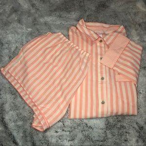 VS Pink Striped PJ Set